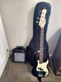 Electric Bass, Amp, Cable and Heavy Duty Travel Case (Negotiable)