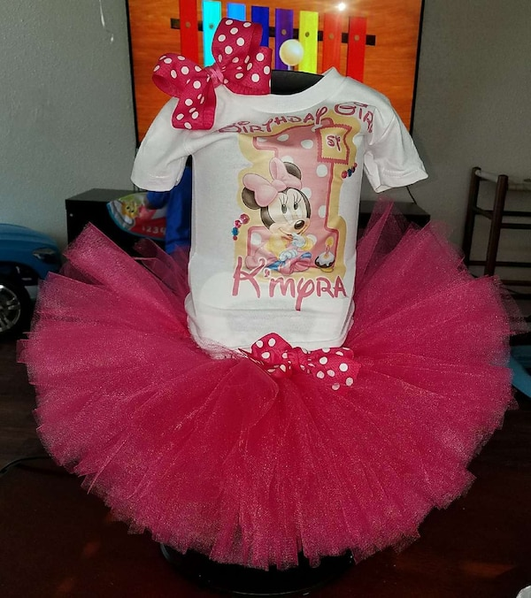 5dcea33a6 Used Minnie mouse birthday tutu for sale in Arlington - letgo