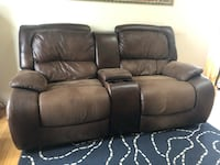 Brown recliner love seat Herndon, 20170