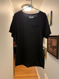 Men's Manmade black shirt size Large  unworn Kensington, 20895