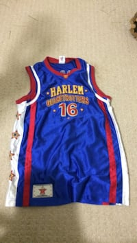 blue, red, and white Harlem 16 jersey shirt (kids large size)  Lower Sackville, B4E 1S7