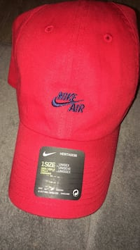 red and black Nike fitted cap Nashville, 37207