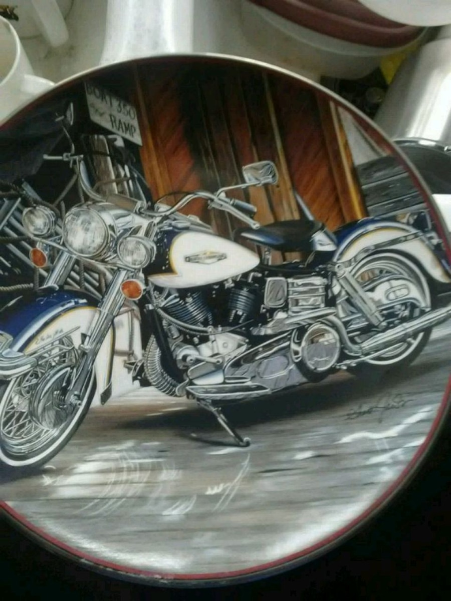 Photo Harley-Davidso Franklin Mint collectible plate