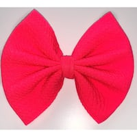 Neon pink bow