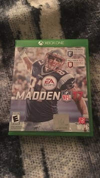 Madden NFL 17 Xbox One game case Lubbock, 79424