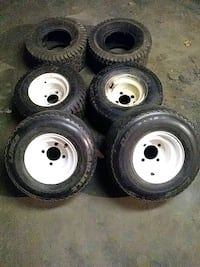 Riding lawnmower tire and rims $15each Omaha, 68108