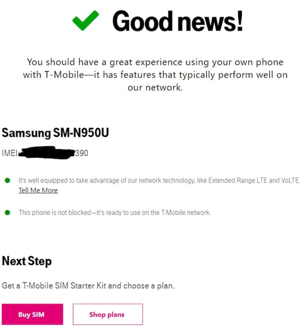 Samsung note 8 64gb (T-Mobile)  2