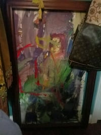 Red in Green. An original work and oil. Chesterland, 44026