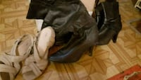 pair of black leather boots Chesley, N0G