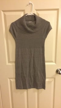 Girls Grey Turtle Neck Sweater Dress Calgary, T3K