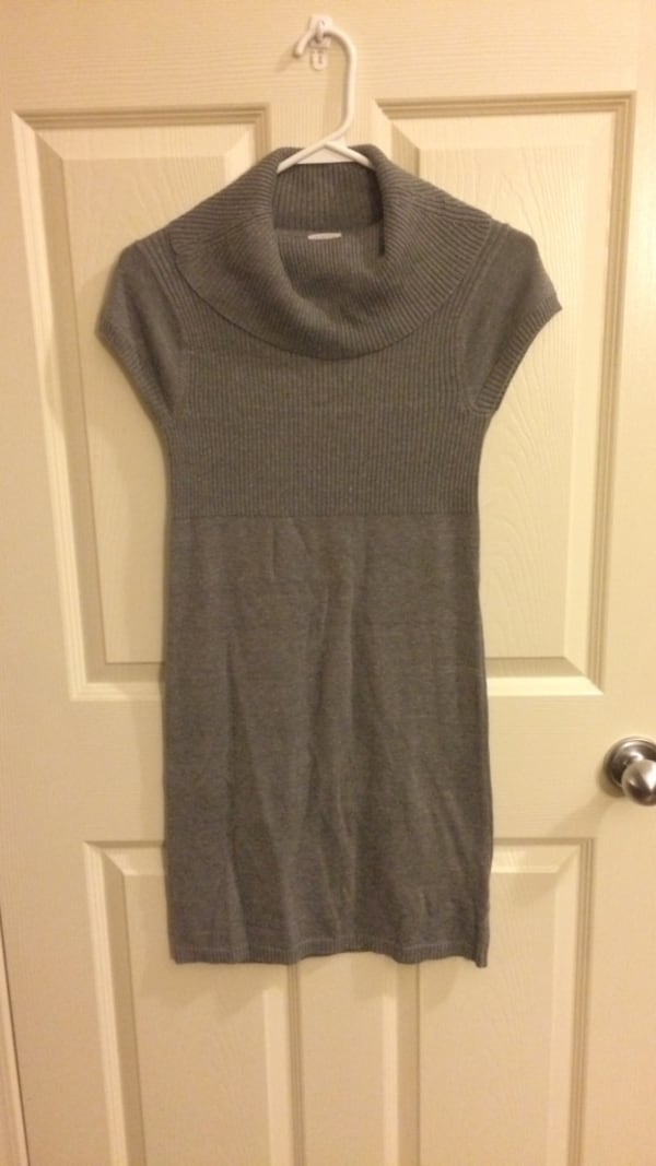 Girls Grey Turtle Neck Sweater Dress 547ac597-30e6-4171-ad18-38d3d0af2c5f