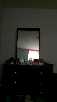 black wooden dresser with mirror Toronto, M9A 4Y1