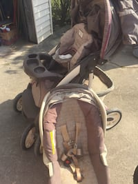 baby's gray and black stroller Livonia, 48152
