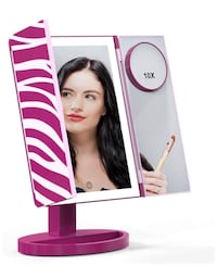 Makeup Mirror, Glamfields 360° Vanity Mirror with 44 LED Lights, Large Piscataway, 08854