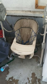 white beige and grey safety 1st portable swing Edmonton, T5C 1M4