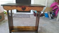 Rustic heart stand