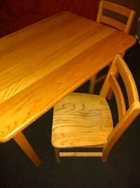 Children s  wooden  table and 2 chairs Kansas City, 64132