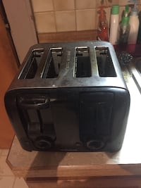 black and gray bread toaster null