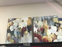 Teal abstract paintings Raytown, 64138