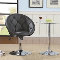 Brand new black leather vanity chair dining stool  La Puente