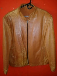 brown leather zip-up jacket McIntosh, 87032