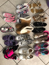 15 pairs of girl's shoes sizes 1&2 Sunrise, 33322