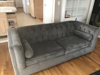 Gray suede sofa Fort Washington