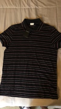Saint Laurent Stripe Pique Polo Baton Rouge, 70816