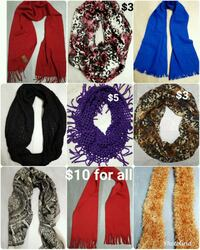 Women's scarves $10 for all Roy