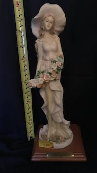 woman with white dress and hat ceramic figurine Columbia, 21044