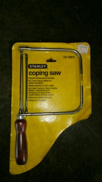 Stanley coping saw New Windsor, 21776