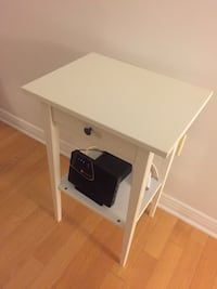 white wooden single-drawer end table Montréal, H3C 0G1