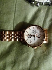 round silver-colored chronograph watch with link bracelet Cheyenne, 82007