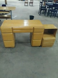 brown wooden single pedestal desk Greenville, 27834
