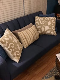 Navy blue sofa sleeper. Used once Purchased from Wayfair for $400 Hope Mills