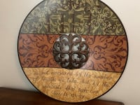 brown and black floral ceramic plate Colleyville, 76034