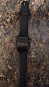 Space black aluminum case apple watch with black sport band 38mm 3rd series Baltimore, 21229