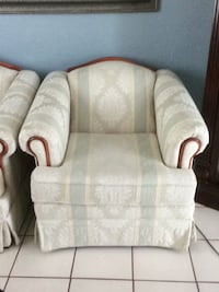 white and gray fabric sofa chair Gainesville, 32606