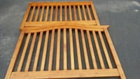 brown wooden crib bed  converts into fullsized bed