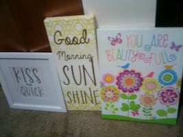 wall signs  $5 each or $15 for all 3