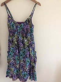 Multicolored spaghetti strap Dress, Size 8, Size M