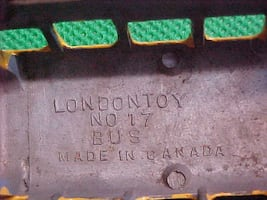 Old LondonToy No 17 Bus - Made In Canada