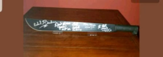Friday the 13th signed machete