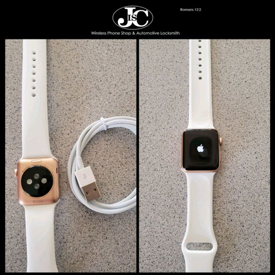Apple Watch Series 3 38mm Aluminum Case Gold! Bluetooth Only!
