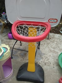 white, yellow, and red little tikes basketball hoop Los Angeles