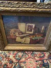 Antique painting 28 by 24 gorgeous wooden frame. Reston, 20191