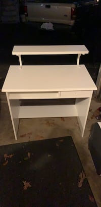 white wooden single-drawer side table Falls Church, 22046