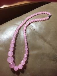 Lovely Pink Jade 6-14mm Tower Beaded Necklace  Farmington, 03835