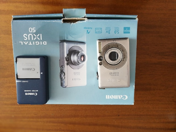 Canon Digital Ixus 50 box