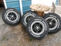 Used 4 Torque Thrust Wheels And Road Hugger Tires 400 For Sale In